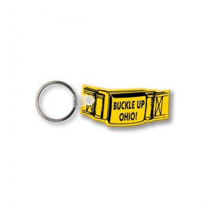 Safety Belt-Shaped Soft Keychain