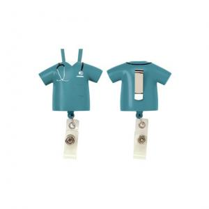 Scrubs Shirt with Stethoscope Badge Pull Holder