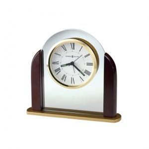 Glass Arch Clock with Rosewood Sides