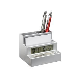 Penholder with clock