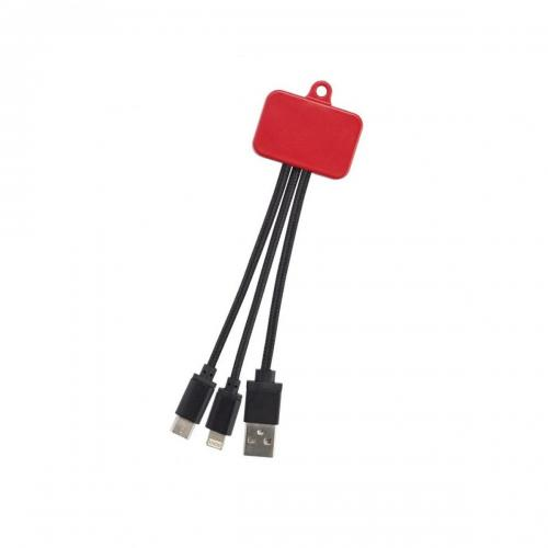CHARGING CABLE 3 IN 1-RED