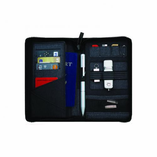 TRAVEL WALLET WITH POWERBANK & USB
