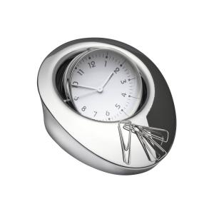 Desk clock with magnet for clip