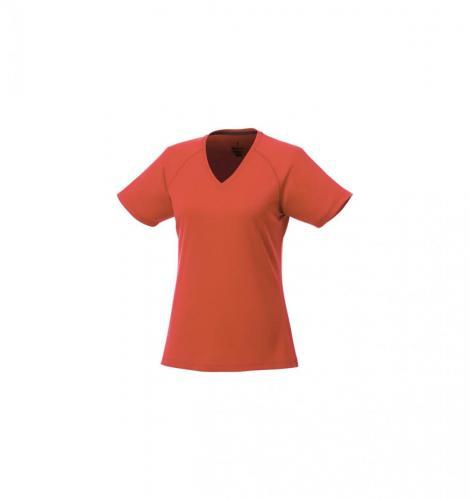 short sleeve women's cool fit V-neck shirt.