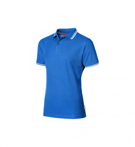 short sleeve men's polo with tipping.